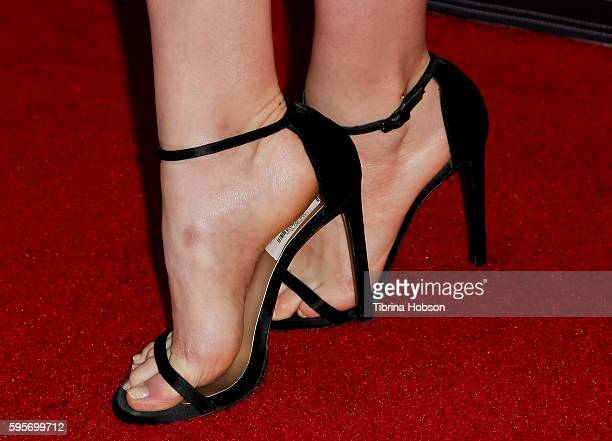 Emily Robinson fashion detail attends the Television Academy and SAGAFTRA's 4th annual Dynamic and Diverse Celebration at Saban Media Center on...