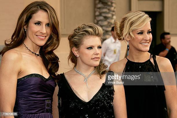 Emily Robinson Natalie Maines and Martie Maguire of the Dixie Chicks arrive at the 2006 American Music Awards held at the Shrine Auditorium on...