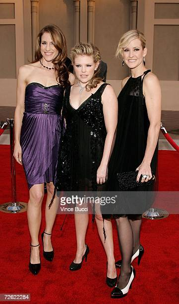 Emily Robinson Natalie Maines and Martie Maguire of the Dixie Chicks arrives at the 2006 American Music Awards held at the Shrine Auditorium on...