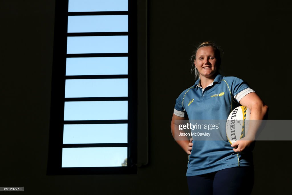 Emily Robinson of the Wallaroos poses after a Rugby Australia press conference at the Rugby Australia Building on December 13, 2017 in Sydney, Australia.