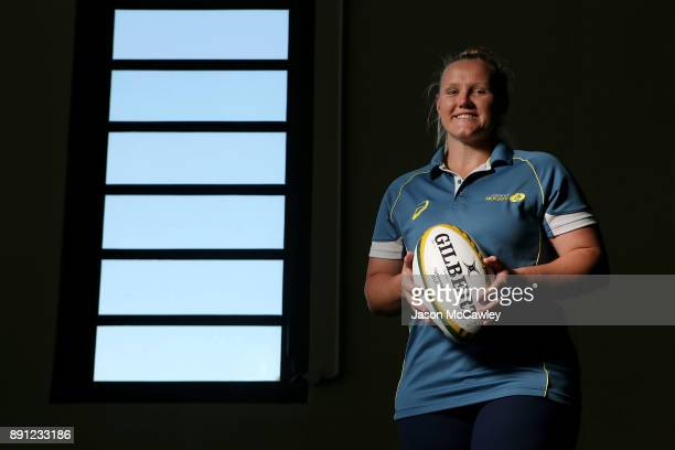 Emily Robinson of the Wallaroos poses after a Rugby Australia press conference at the Rugby Australia Building on December 13 2017 in Sydney Australia