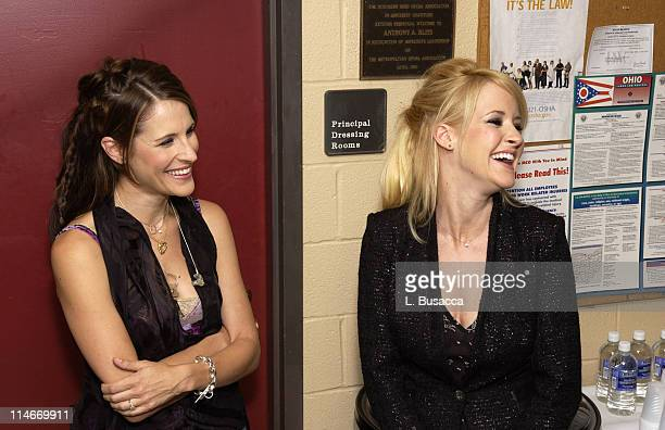 Emily Robison and Martie Maguire during Vote For Change Tour Cleveland Ohio October 2 2004 in Cleveland Ohio United States