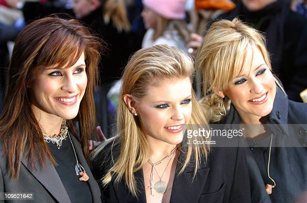Emily Robison Natalie Maines and Martie Maguire during The Dixie Chicks Perform on The Today Show Concert Series November 24 2003 at NBC Studios...