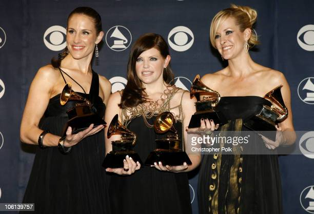 Emily Robison Natalie Maines and Martie Maguire of the Dixie Chicks winners Album of the Year Record of the Year Song of the Year Best Country...