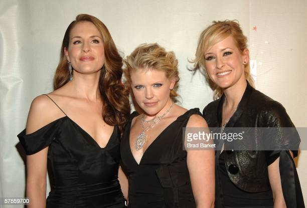 Emily Robison Natalie Maines and Martie Maguire of the Dixie Chicks attend the celebration for Time Magazine's 100 Most Infuential People issue at...
