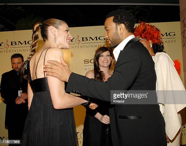 Emily Robison Natalie Maines of Dixie Chicks and John Legend