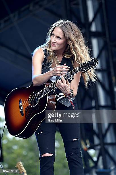 Emily Robison of Court Yard Hounds performs during the first day of week two of the Austin City Limits Music Festival at Zilker Park on October 11...