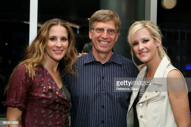 Emily Robison of the Court Yard Hounds Executive Director of the GRAMMY Museum Bob Santelli and Martie Maguire of the Court Yard Hounds after The...