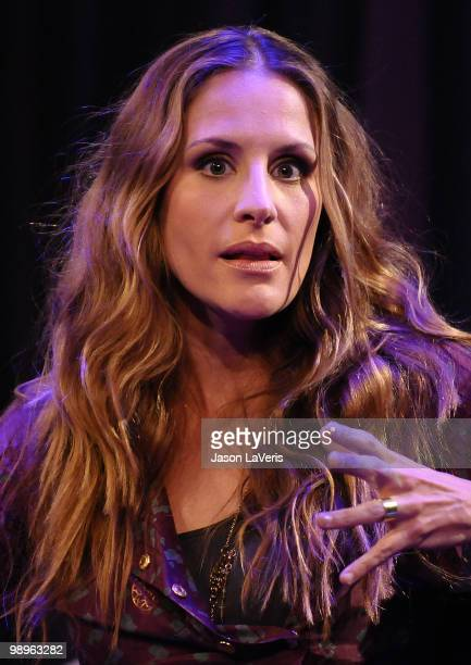Emily Robison of The Court Yard Hounds onstage during a QA at The Grammy Museum on May 10 2010 in Los Angeles California