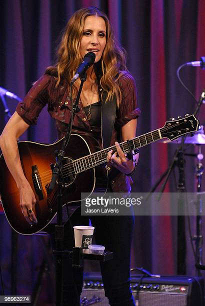 Emily Robison of The Court Yard Hounds performs at The Grammy Museum on May 10 2010 in Los Angeles California