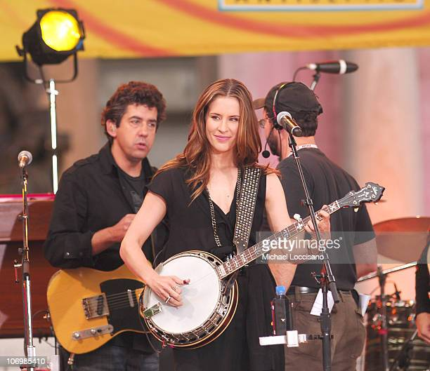 Emily Robison of the Dixie Chicks during The Dixie Chicks Perform on ABC's 'Good Morning America' Summer Concert Series May 26 2006 at Bryant Park in...