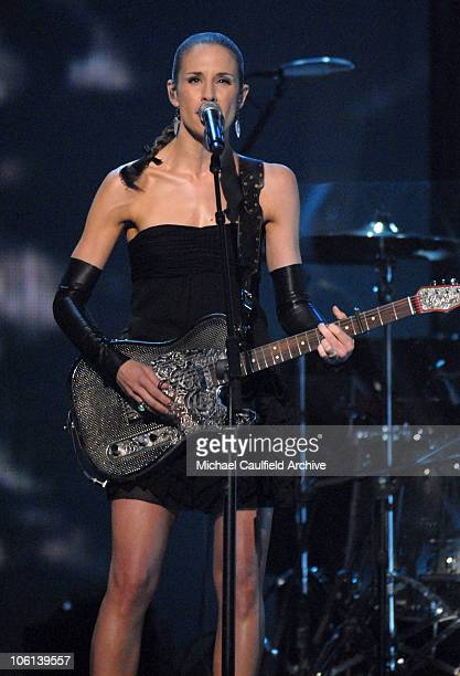 Emily Robison performs 'Not Ready to Make Nice' during The 49th Annual GRAMMY Awards Show at Staples Center in Los Angeles California United States