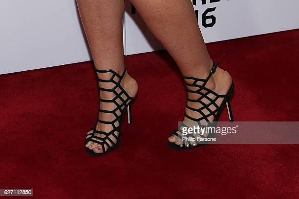 Emily Rose shoe detail attends the 2016 Game Awards at Microsoft Theater on December 1 2016 in Los Angeles California