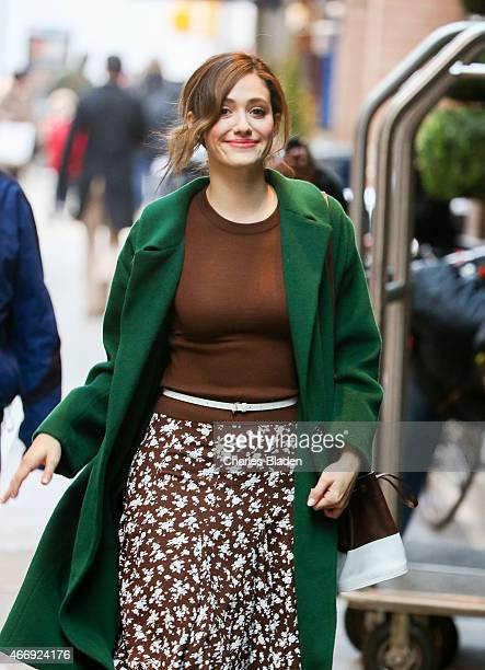 Emily Rossum is seen on March 19 2015 in New York City