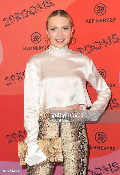 Emily Ruhl attends Refinery29's 29Rooms Los Angeles 2018 Expand Your Reality at The Reef on December 04 2018 in Los Angeles California