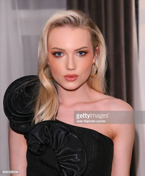 Emily Ruhl attends the Wolk Morais Collection 6 Fashion Show on January 17 2018 in Los Angeles California