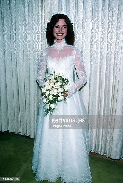 Emily Ruth Black attends a photocall after getting married to Robert F Kennedy Jr on April 3 1982 in her hometown of Bloomington Indiana