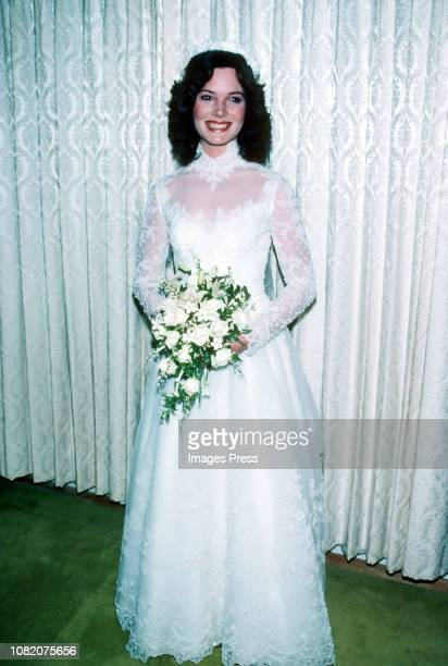 Emily Ruth Black photographed after getting married on April 3 1982 in her hometown of Bloomington Indiana