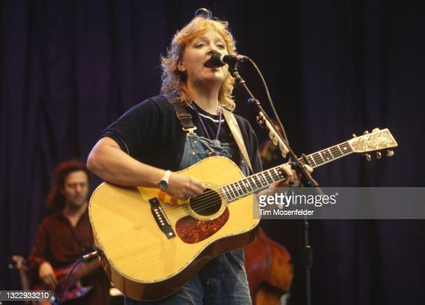 Emily Saliers of Indigo Girls performs during the Lilith Fair at Shoreline Amphitheatre on June 24, 1998 in Mountain View, California.