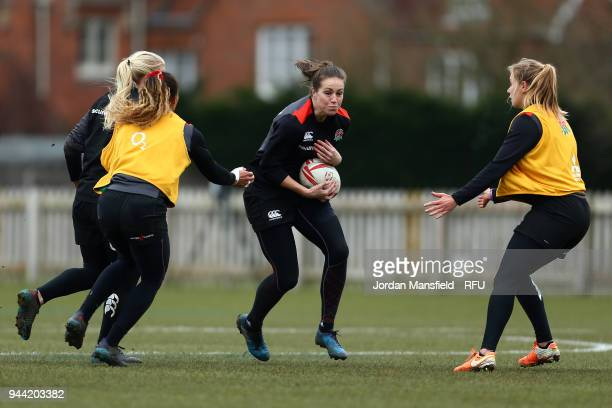 Emily Scarratt of England during England Sevens Women Training at Bisham Abbey on March 9 2018 in Marlow England
