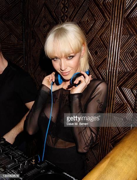 Emily Scott plays a DJ set at Shaka Zulu on December 11, 2011 in London, England.