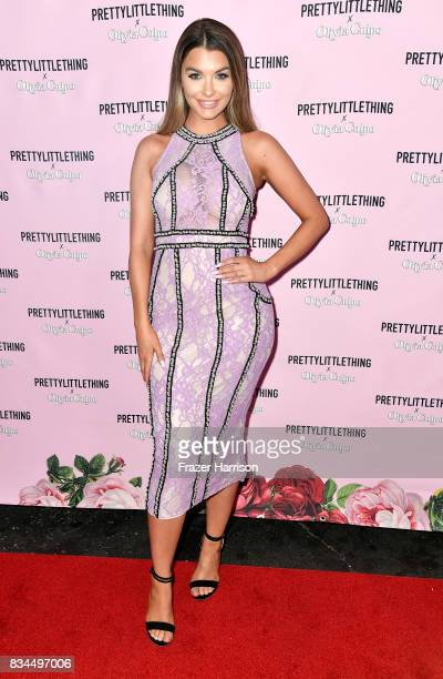 Emily Sears attends PrettyLittleThing X Olivia Culpo Launch at Liaison Lounge on August 17 2017 in Los Angeles California