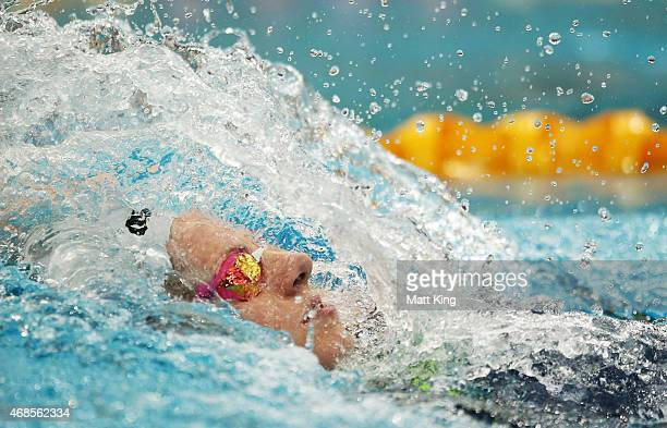 Emily Seebohm competes in the Women's 200m Individual Medley Final during day two of the Australian National Swimming Championships at Sydney Olympic...
