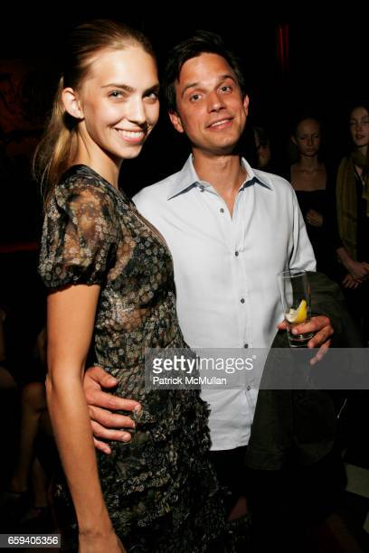 Emily Senko and Colin Bell attend FORD Models Fashion Week KickOff Party at Rose Bar on September 9 2009 in New York City