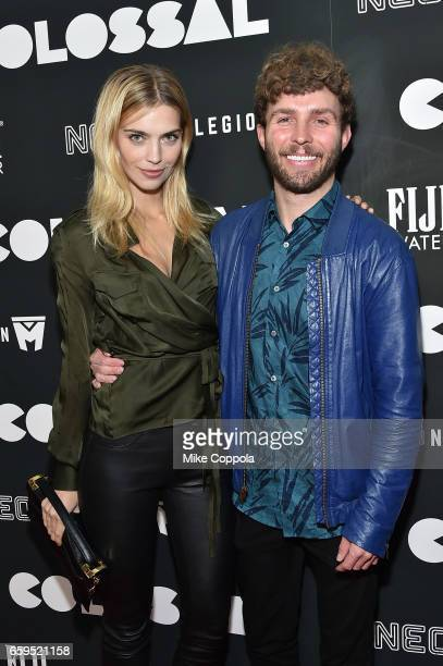 Emily Senko and Tim Weiland attend the 'Colossal' premiere at AMC Lincoln Square Theater on March 28 2017 in New York City