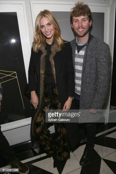 Emily Senko and Timo Weiland attend Cohen Media Group with The Cinema Society host the after party for 'Double Lover' at Omar's on January 25 2018 in...