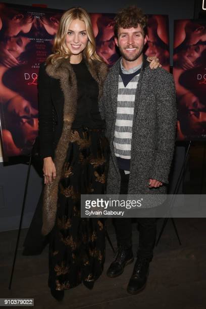 Emily Senko and Timo Weiland attends Cohen Media Group with The Cinema Society host the New York Premiere of 'Double Lover' on January 25 2018 in New...