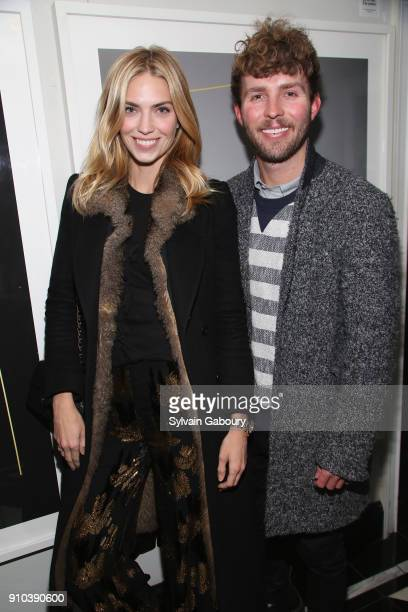 Emily Senko and Timo Weiland attends Cohen Media Group with The Cinema Society host the after party for 'Double Lover' at Omar's on January 25 2018...