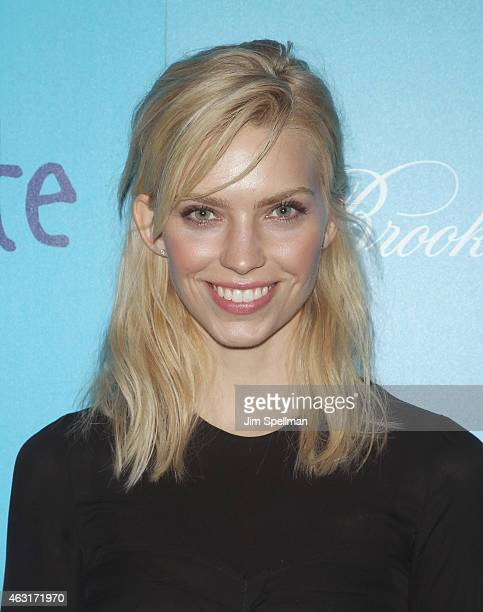 """Emily Senko attends The Cinema Society and Brooks Brothers host a screening of """"The Rewrite"""" at Landmark's Sunshine Cinema on February 10, 2015 in..."""