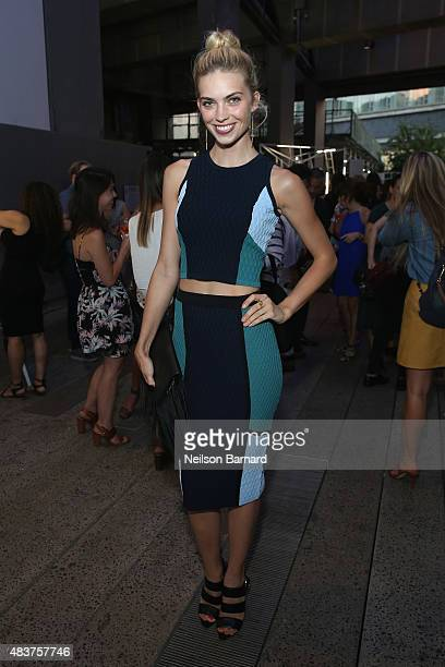 Emily Senko attends the StyleWatch x Revolve Fall Fashion Party on the The High Line on August 12 2015 in New York City