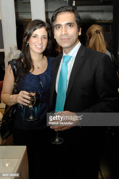 Emily Shapoff and Pavan Uttam attend JEROME DREYFUSS Fall/Winter 2009 Collection at LUDIVINE Uptown at Boutique Ludivine on February 19 2009 in New...