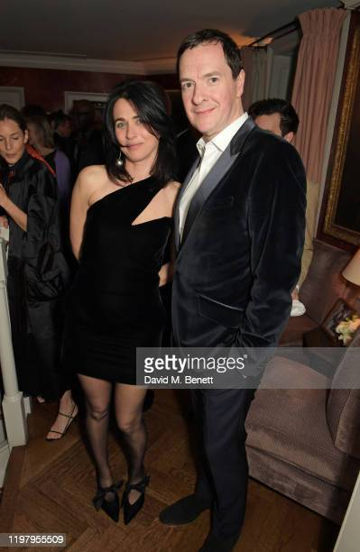 Emily Sheffield and Evening Standard Editor George Osborne attend the Charles Finch & CHANEL Pre-BAFTA Party at 5 Hertford Street on February 1, 2020...