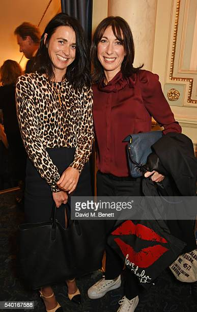 Emily Sheffield and Samantha Cameron attend the 'People Places Things' Charity Gala in aid of Action On Addiction at Wyndhams Theatre on June 14 2016...