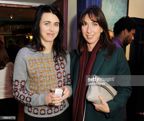 Emily Sheffield and Samantha Cameron attend Tricycle Theatre's 'Red Velvet The Director's Party' on November 22 2012 in London England