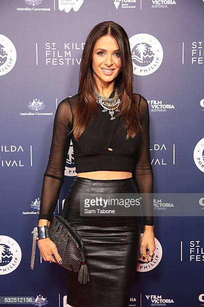 Emily Simms The Bachelor attends Opening Night of the St Kilda Film Festival at the Palais Theatre on May 19 2016 in St Kilda Australia