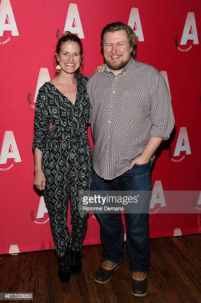 Emily Simoness and Michael Chernus attend 'Dying For It' Opening NightAfter Party at Moran's Restaurant on January 8 2015 in New York City