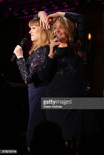 Emily Skinner and Alice Ripley performing Alice Ripley and Emily Skinner 'Unattached' at Feinsteins/54 Below on July 20 2016 in New York City
