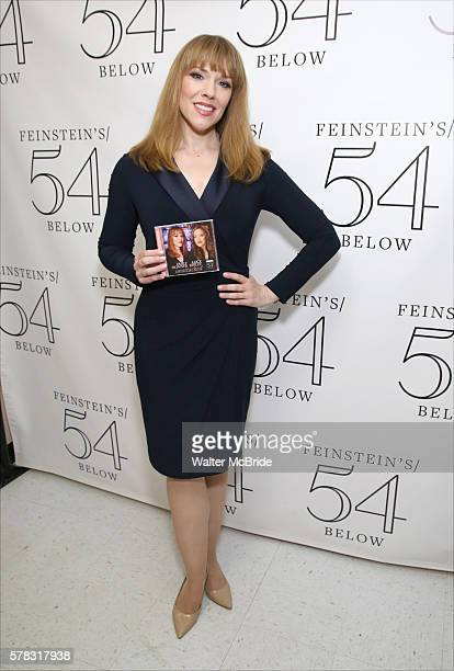 Emily Skinner backstage at Alice Ripley and Emily Skinner 'Unattached' at Feinsteins/54 Below on July 20 2016 in New York City