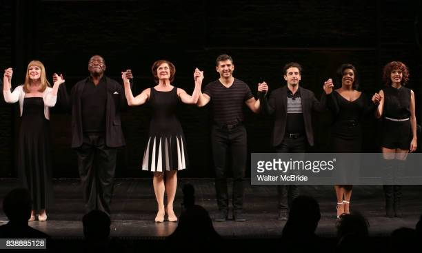 Emily Skinner Chuck Cooper Karen Ziemba Tony Yazbeck Brandon Uranowitz Bryonha Marie Parham and Janet Dacal during the Broadway Opening Night...