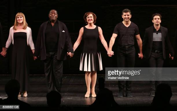 Emily Skinner Chuck Cooper Karen Ziemba Tony Yazbeck Brandon Uranowitz during the Broadway Opening Night performance Curtain Call for 'Prince of...