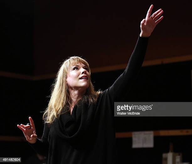 Emily Skinner during the press day preview of 'Prince of Broadway' at SIR Studio on October 5 2015 in New York City