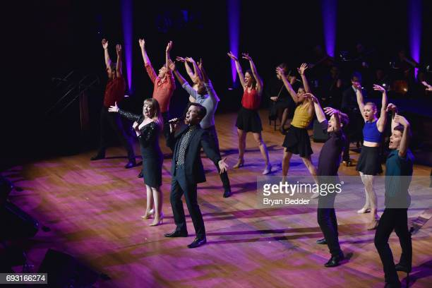 Emily Skinner Gavin Creel and dancers perform onstage at the Lincoln Center Hall Of Fame Gala at the Alice Tully Hall on June 6 2017 in New York City