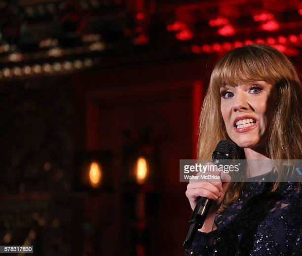 Emily Skinner performing Alice Ripley and Emily Skinner 'Unattached' at Feinsteins/54 Below on July 20 2016 in New York City