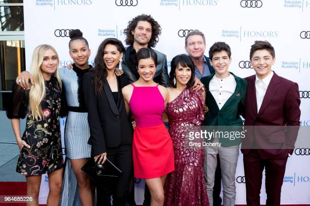 Emily Skinner Sofia Wylie Lilan Bowden Guest Peyton Lee Lauren Tom Guest Joshua Rush and Asher Angel attend the 11th Annual Television Academy Honors...