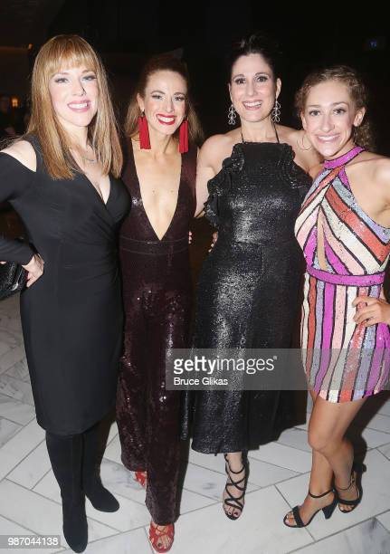 Emily Skinner Teal Wicks Stephanie J Block and Micaela Diamond pose at the Opening Night Paty for 'The Cher Show' PreBroadway Premiere at Hotel...
