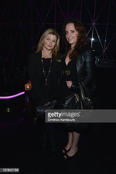 Emily Smith and Jane Owen attend the celebration of Dom Perignon Luminous Rose at Wall at W Hotel on December 6 2012 in Miami Beach Florida